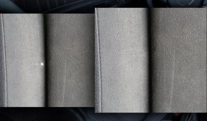 ремонт ткани и кожи на кресле после прожега