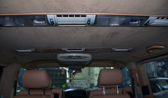 Перетяжка потолка Мультиван алькантарой в автостудии «Новая Кожа»